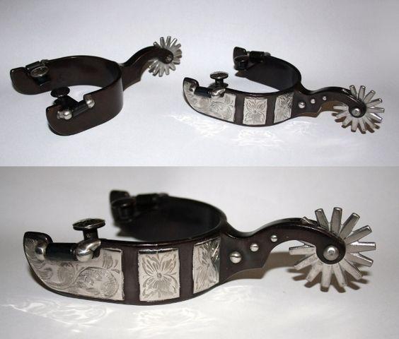 Sporen Show Black Steel mit Silber