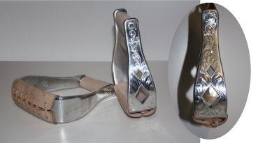 Alu - Steigbügel - graviert
