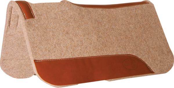 Contoured Tan Wool Pony Pad