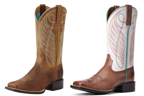 """Ariat Damen Western Boot """"Round Up Wide Square Toe"""""""