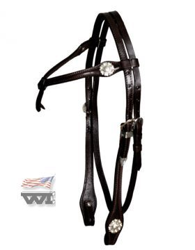 Silver Headstall - Knotted Brow