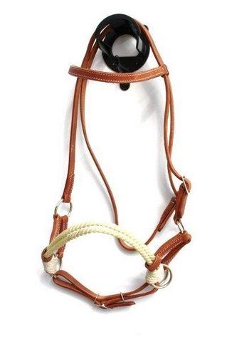 Sidepull Nylon Rope doppelt, Harness Kopfstück