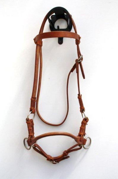 Sidepull single Leather Noseband, Harness Kopfstück