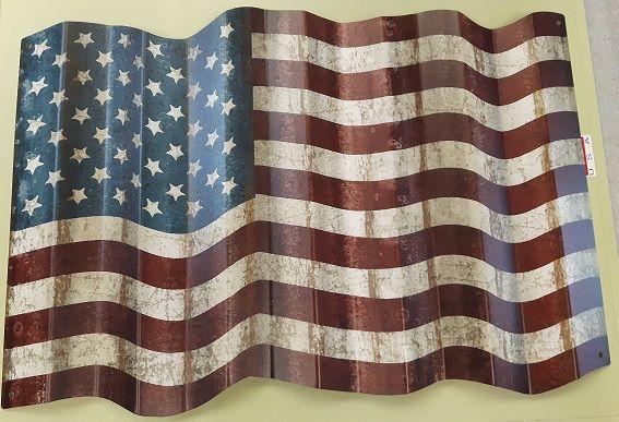 Schild America Flag Metall