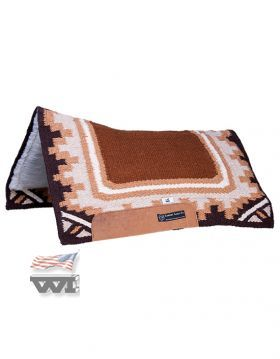 "CSF Comfort Saddle Fit Pad ""DESERT RAIN"" , CRIMSON"