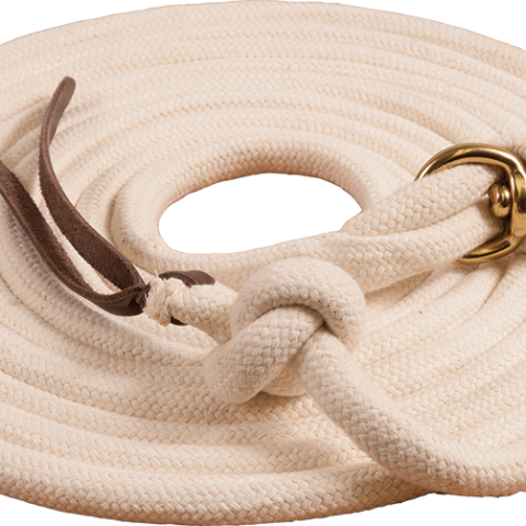 Pima Cotton Lunge Line with round braided stopper
