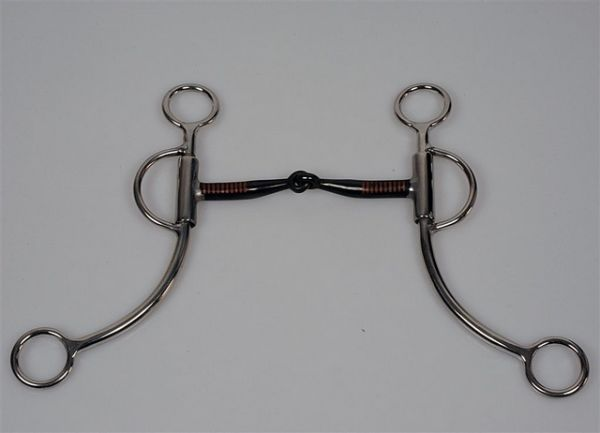 Gebiss Snaffle with SS loomis Shanks BS mouth, stainless steel
