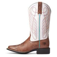 WMS Round Up Wide Square Toe Western Boot