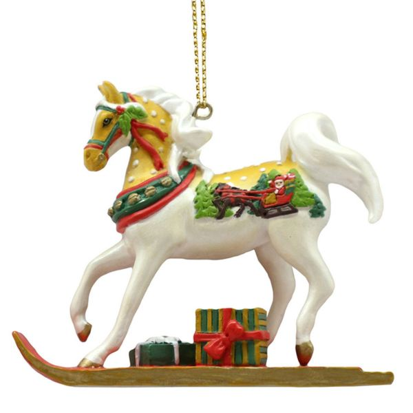 Painted Ponies Sleigh Ride Ornament FOB