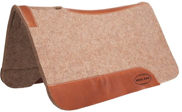 "Mustang Pad Tan Wool Contoured ca. 81 x 81 cm (32 x 32"")"