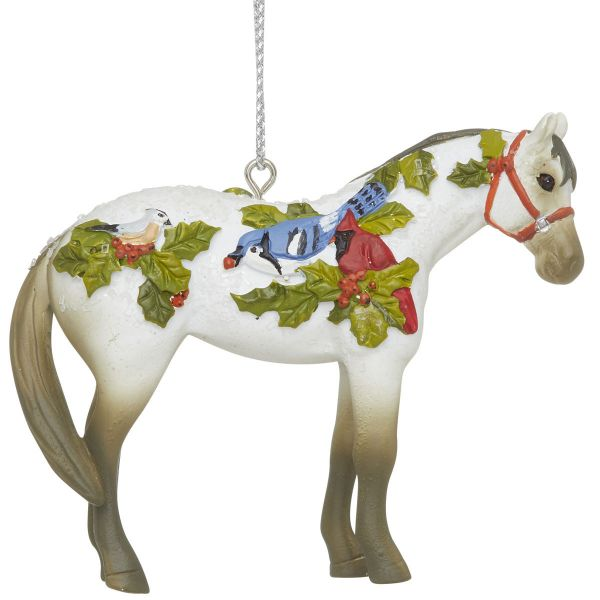 Painted Ponies 2020 Xmas Winter Feathers Ornament FOB