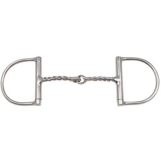 FES D-Ring Reverse Spiral Snaffle