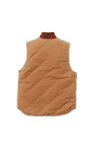 """Carhartt Herren Weste Duck Vest Arctic Quilt Lined """"brown"""""""