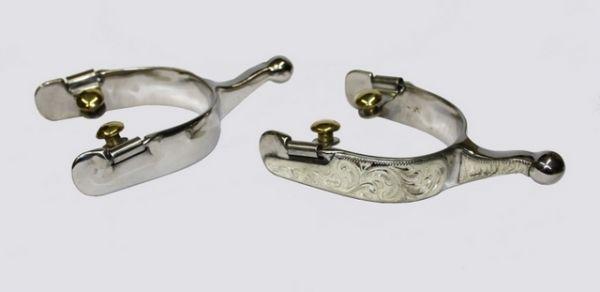 Kugelsporen Show German Silver, graviert, kurz und schmal