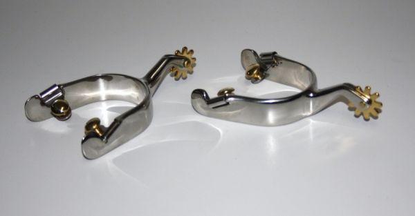 Sporen,SS Silber, schlicht, Typ 2
