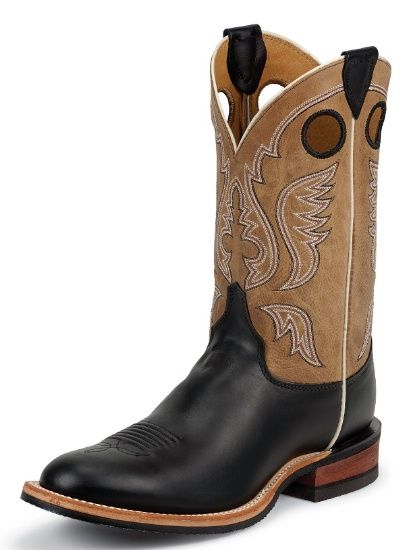 Justin Herren Boot BLACK SUPERIOR COW