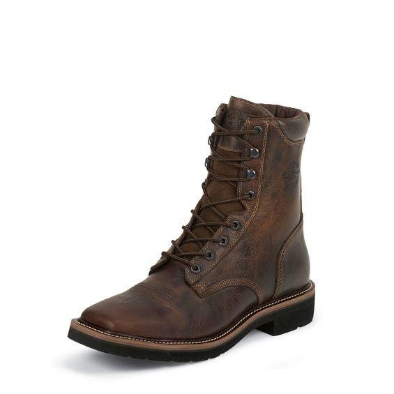 Justin Herren Work Boot RUGGED TAN STAMPEDE