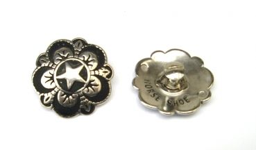 HSB Floral Star Concho with Screw – 1 ½´´
