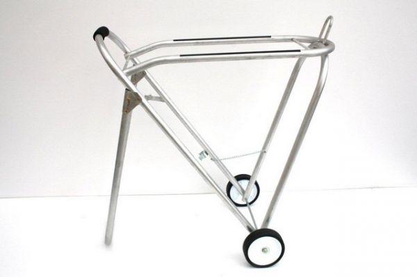 Alu Saddle Caddy mit Rädern, einfaches Modell
