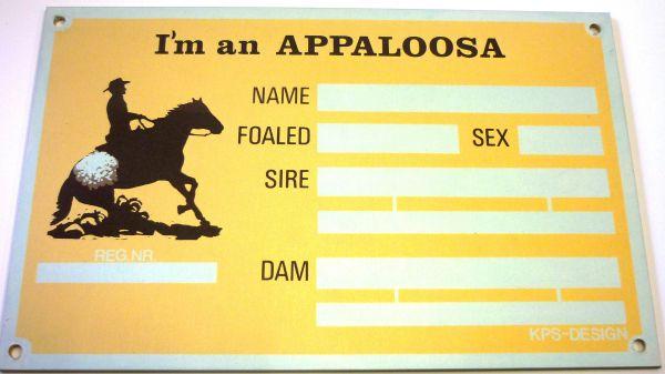"""Boxenschild """"I'm an Appaloosa"""""""